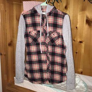 Adam Levine flannel hoodie
